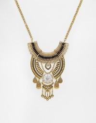 Ожерелье с дисками и планками Love Rocks - Золотой