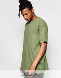 Oversize-футболка Reclaimed Vintage - Хаки