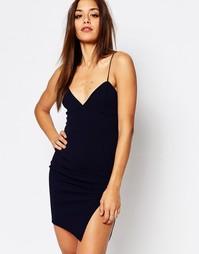 Облегающее платье на бретельках Missguided - Темно-синий