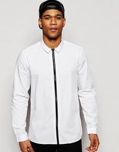 Белая рубашка на молнии классического кроя ASOS - Белый