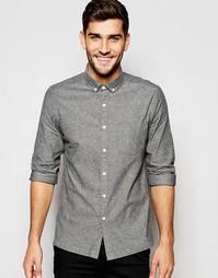 Серая оксфордская рубашка с длинными рукавами ASOS - Серый