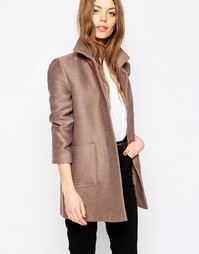 Фактурное пальто ASOS - Mink