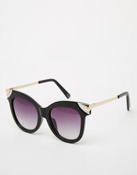 Солнцезащитные очки кошачий глаз с металлическими уголками ASOS