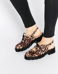 Туфли на плоской подошве ASOS MILA - Leopard