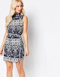 Платье-рубашка с принтом пейсли Parisian - Синий