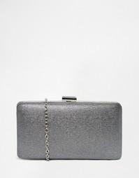 Серый клатч-футляр с оттенком металлик Chi Chi London - Лунный камень