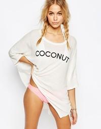 Пляжный топ с принтом Coconut Wildfox - Белый