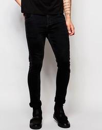 Черные супероблегающие джинсы Dark Future - Черный
