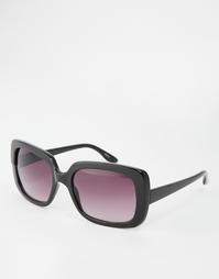 Квадратные солнцезащитные очки с затемненными стеклами Monki - Черный