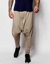 Легкие штаны для бега бронзового цвета с заниженным шаговым швом ASOS