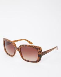 Черепаховые квадратные солнцезащитные очки Monki - Черепаховый