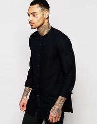 Удлиненная черная рубашка ASOS - Черный