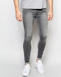 Серые супероблегающие джинсы Dr Denim Dixy - Выбеленный серый