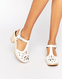 Белые кожаные сандалии Swedish Hasbeens Lacy - Белый