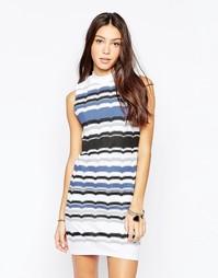 Облегающее платье без рукавов с принтом в полоску Your Eyes Lie
