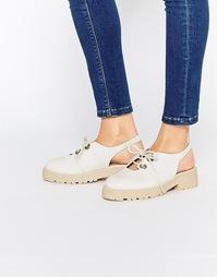 Туфли на плоской подошве ASOS MILA - Кремовый