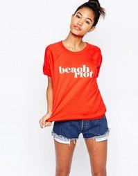 Пляжный свитшот Beach Riot - Красный