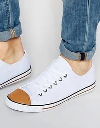 Белые кеды со вставкой на носке ASOS - Белый