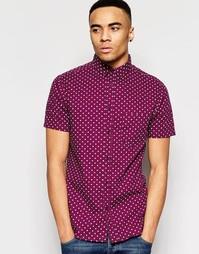 Рубашка в горошек с короткими рукавами Brave Soul - Красный