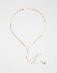 Ожерелье Weekday - Золотой