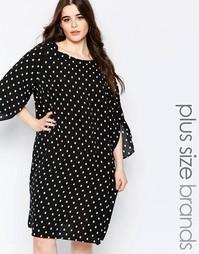 Цельнокройное платье размера плюс в горошек Koko - Черный