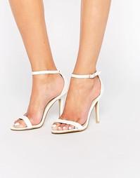 Белые лакированные сандалии Glamorous - Белый лакированный