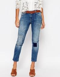 Укороченные джинсы в стиле пэтчворк Vero Moda - Деним