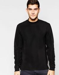Черный фактурный свитшот с высокой горловиной ASOS - Черный