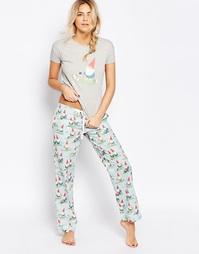 Пижамные штаны Cath Kidston Garden Gnome - Серый