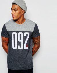 Облегающая футболка с аппликацией '092' Abercrombie & Fitch