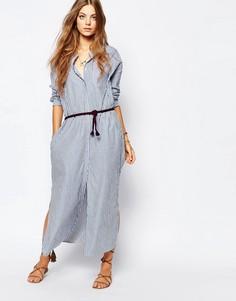 Платье-рубашка макси Maison Scotch - Синий 1