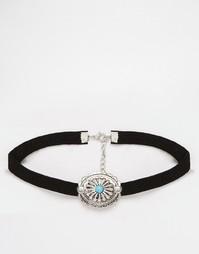 Ожерелье из искусственной замши в стиле вестерн ASOS Choker - Черный