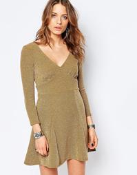 Платье мини Free People - Коричневый