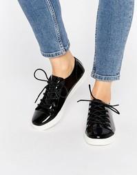 Лакированные кожаные туфли Monki Minni - Черный