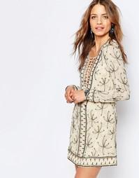 Платье мини с отделкой бисером Free People Sicily - Слоновая кость