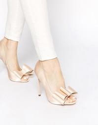 Туфли на высоком каблуке с открытым носком ASOS POPPY - Телесный