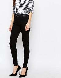 Рваные джинсы скинни Vila - Черный