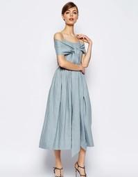 Льняное платье дебютантки для выпускного ASOS - Синий