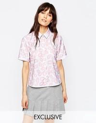 Рубашка с принтом губ Le Kilt for ASOS - Мульти