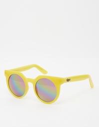 Круглые солнцезащитные очки Quay - Желтый