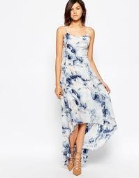 Платье макси Gestuz Deliah - Синий принт