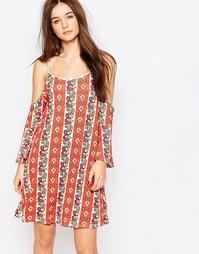 Платье с вырезами на плечах Daisy Street - Мульти