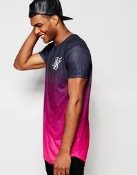 Удлиненная футболка с эффектом деграде и закругленным низом SikSilk