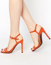Босоножки на каблуке ASOS HAPHAZARD - Оранжевый