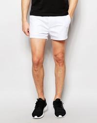 Белые суперкороткие шорты чиносы слим ASOS - Белый