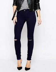 Облегающие джинсы Vila Commit - Темный синий