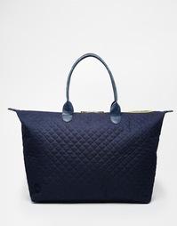 Стеганая темно‑синяя сумка Mi‑Pac Weekender - Quilted navy