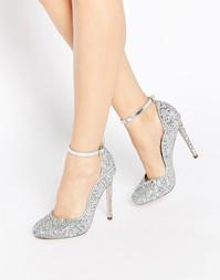 Туфли на высоком каблуке ASOS PLUSH - Серебряный