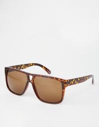 Солнцезащитные очки в черепаховой оправе с вырезом для носа ASOS