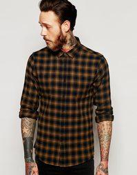 Свободная клетчатая рубашка с длинными рукавами ASOS - Синий
